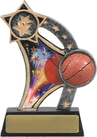 Shooting Star Basketball Hologram 130mm Image