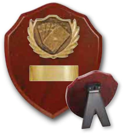 Card Players timber shield (2 sizes) Image
