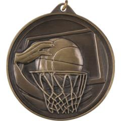 Embossed Basketball Medal 50mm