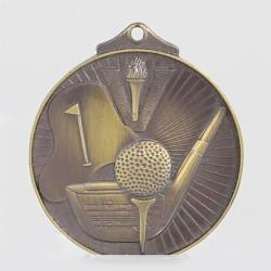 Embossed Golf Medal 52mm Bronze
