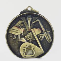 Embossed Music Medal 52mm Gold