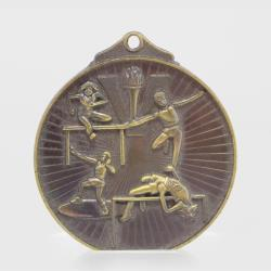 Embossed Athletics Medal 52mm Bronze