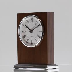 Walnut Woodcraft Clock 140mm