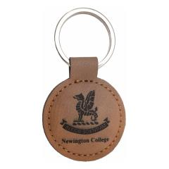 Rawhide Leather Keyring 85mm