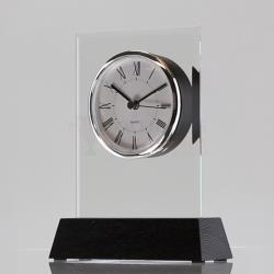 Glass Woodcraft Clock 170mm
