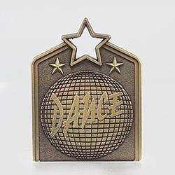 Shield Medal Dance 60mm Gold