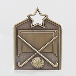 Shield Medal Hockey 60mm Gold