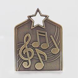 Shield Medal Music 60mm Gold