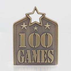 Shield Medal 100 Games 60mm