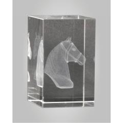3D Equestrian Crystal Block