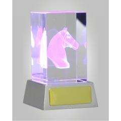 3D Equestrian Crystal & LED Lights 110mm