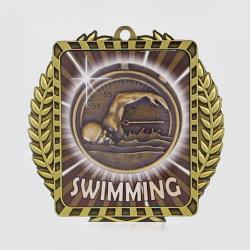 Lynx Wreath Swimming Medal Gold