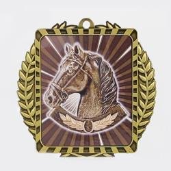 Lynx Wreath Horse Gold