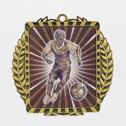 Lynx Wreath Soccer Male Medal Gold