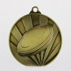 Sunrise Rugby Medal 70mm Gold