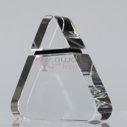 Black Moonstone Triangle 120mm