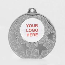 The Starburst personalised  50mm Medal Silver