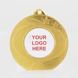 The Elliptical personalised 50mm Medal Gold