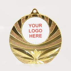 Astro Personalised Medal 50mm - Shiny Gold