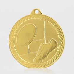 Chevron Rugby Medal 50mm - Gold