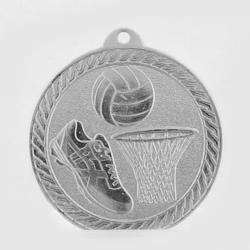 The Chevron Series - Netball - 50mm Medal Silver