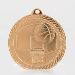 Chevron Basketball Medal 50mm - Bronze