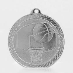 Chevron Basketball Medal 50mm - Silver
