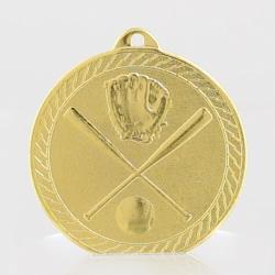 Chevron Baseball Medal 50mm - Gold