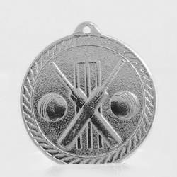 The Chevron Series - Cricket - 50mm Medal Silver