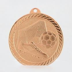 Chevron Soccer Medal 50mm - Bronze