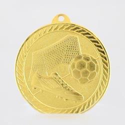 Chevron Soccer Medal 50mm - Gold