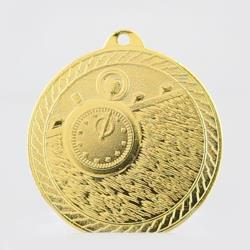 Chevron Swimming Medal 50mm - Gold