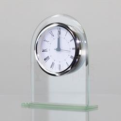 Curved Glass Clock - 165mm