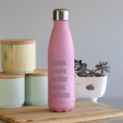 A&T INSULATED WATER BOTTLE 500ML - PINK