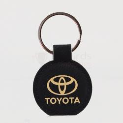 LEATHERETTE KEYCHAIN - BLACK/GOLD