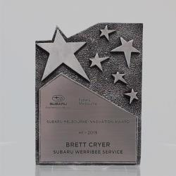 Star Cross Resin Plaque Silver 195mm