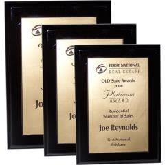 The budget series - Piano Finish Plaques (black)