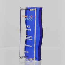 Blue & Clear Acrylic Stand 180mm
