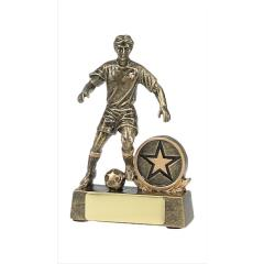 Male Soccer Player Gold 130mm