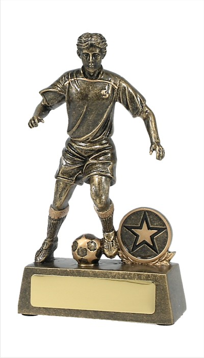 Male Soccer Player Gold 150mm