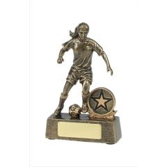 Female Soccer Player Gold 110mm
