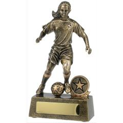 Female Soccer Player Gold