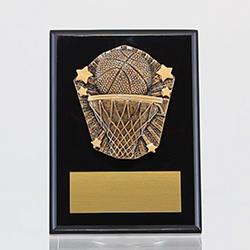 Cosmos Basketball Black Plaque 150mm