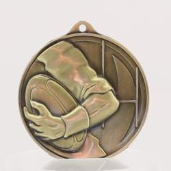 Embossed Rugby Medal50mm 55mm