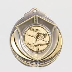 Two Tone Snooker Medal 50mm Bronze