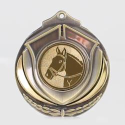 Two Tone Equestrian Medal 50mm Gold