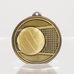 Triumph Netball Medal 50mm Gold