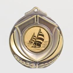 Two Tone Sailing Medal 50mm Gold
