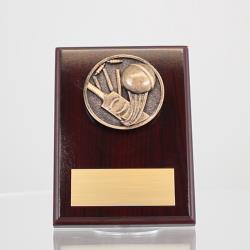 Spartan Cricket Mahogany Plaque 150mm