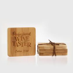 Square Bamboo Coasters - Set of 4